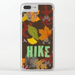 Take a Hike Artwork Fabric Design Clear iPhone Case