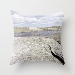 Granite Pool in the Clouds Throw Pillow