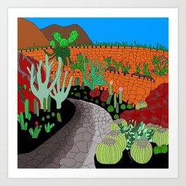 The Cactus Garden, Lanzarote, Canary Islands, Spain Art Print