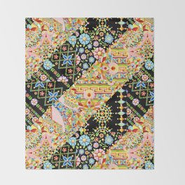 Crazy Patchwork Triangles Throw Blanket