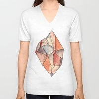 crystal V-neck T-shirts featuring Crystal  by Matt Smith