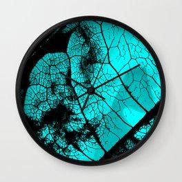 Aqua leaf Wall Clock