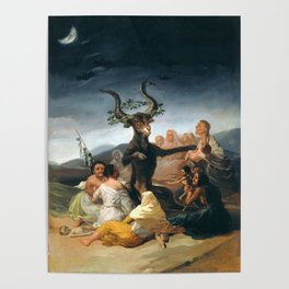 The Sabbath of Witches Goya Painting Poster