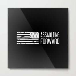 U.S. Military: Assaulting Forward Metal Print
