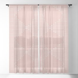 Geo / Blush Sheer Curtain