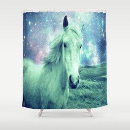 Celestial Dreams Horse Shower Curtain