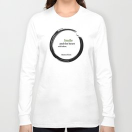 Zen Smile & Heart Quote Long Sleeve T-shirt