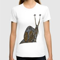 greg guillemin T-shirts featuring Snail Abstract by Greg Phillips by SquirrelSix
