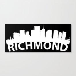 Curved Skyline Of Richmond VA Canvas Print