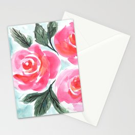 Farmhouse and Shabby Chic Rose Bouquet Chintz Rose Florals American Country English Stationery Cards