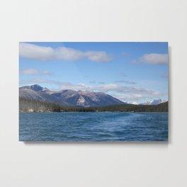 Mountains of Maligne Lake 3 Metal Print