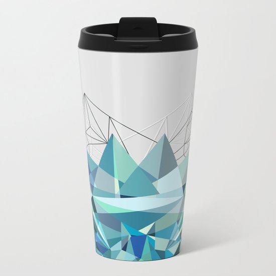 Colorflash 3 Turquoise Metal Travel Mug