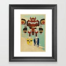 The Mega of the Zords Framed Art Print