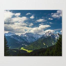 Stunning Julian alps Canvas Print