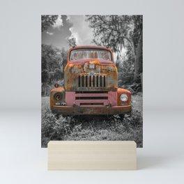 International RC-160 Flatbed Vintage Rusty Truck Mini Art Print