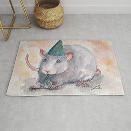 New year rat Rug