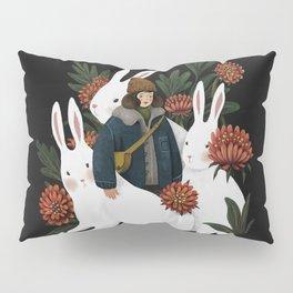 The rabbit garden Pillow Sham