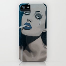 Spooky Angelina Jolie  iPhone Case