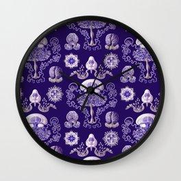 Ernst Haeckel - Purple Jellyfish Pattern Wall Clock