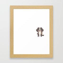 My Bernese Mountain Dog Makes Me Happy Framed Art Print