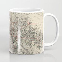Vintage Map of Oakland CA (1912) Coffee Mug