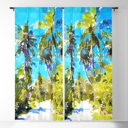 Find Your Way Back To The Beach Blackout Curtain