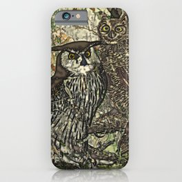 My owls in batik style iPhone Case
