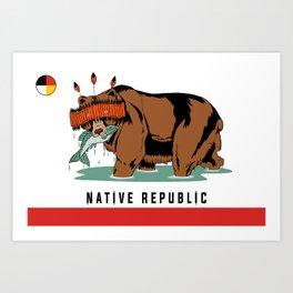 Native Rebublic Art Print