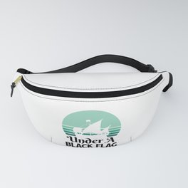 Pirate /Ship / Pirate Captain - under black flag  Fanny Pack