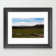 mountains. Framed Art Print