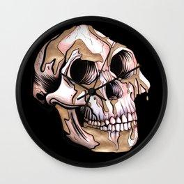 Kintsugi Lucy Skull Wall Clock