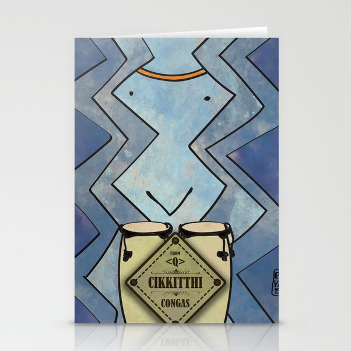 Cikkitthi from < Q > (Congas) Stationery Cards