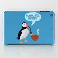 puffin iPad Cases featuring puffin' by Christopher