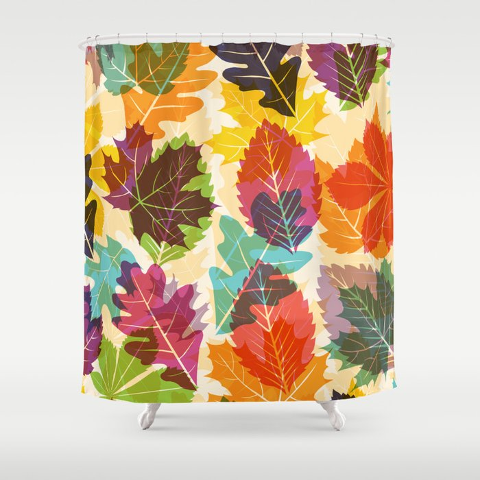 Autumn Leaves Shower Curtain By Fimbis
