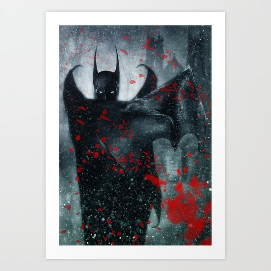Shadow of the Bat Art Print
