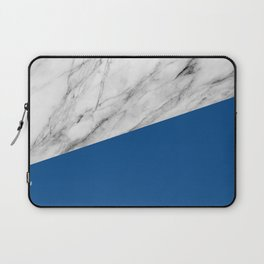 Marble and Lapis Blue Color Laptop Sleeve