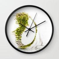 dragon ball Wall Clocks featuring Dragon Moss ball baseball by Surface Maximus