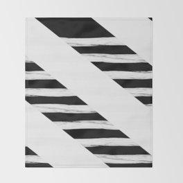 Cross Black and White Gross Stripes Throw Blanket