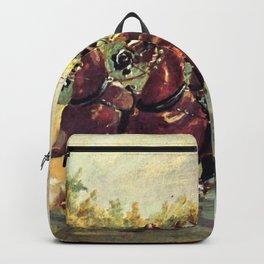"""Henri de Toulouse-Lautrec """"Count Alphonse de Toulouse Lautrec driving a four horse hitch"""" Backpack"""