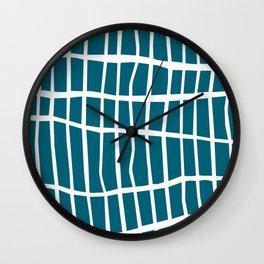 Net White on Blue Wall Clock