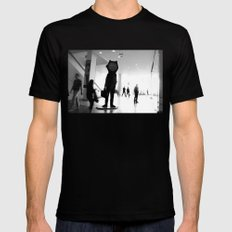 Time goes by Mens Fitted Tee Black MEDIUM