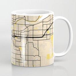 Spokane Yellow City Map Coffee Mug