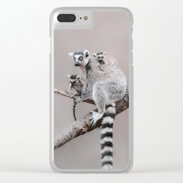 RINGTAILED LEMUR FAMILY by Monika Strigel Clear iPhone Case