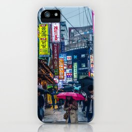Raining in Gangnam iPhone Case