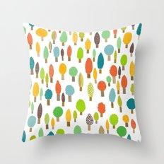 Wood U Colorful Throw Pillow
