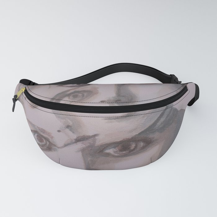 watercolor portrait of the Spirits in Her Head Fanny Pack