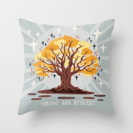 Strong and resilient Throw Pillow