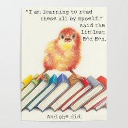 Little Red Hen Reads Poster