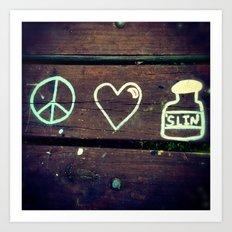 Peace Love and Insulin  Art Print