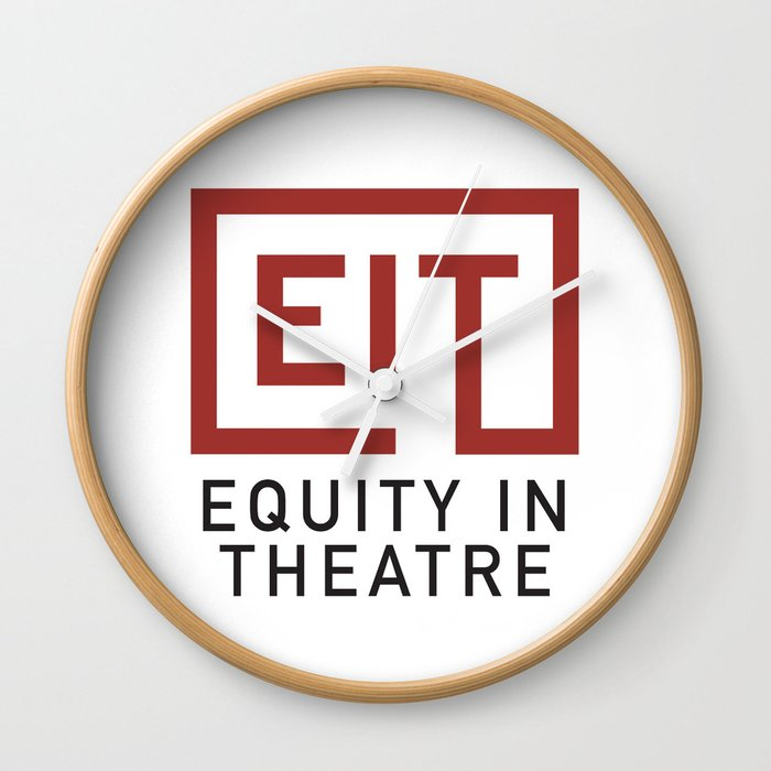 Equity in Theatre Wall Clock